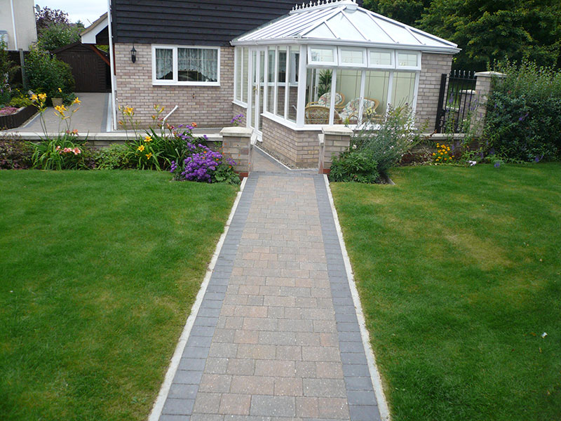 Gary Cooper Paving Flat Top Path Edging And Charcoal
