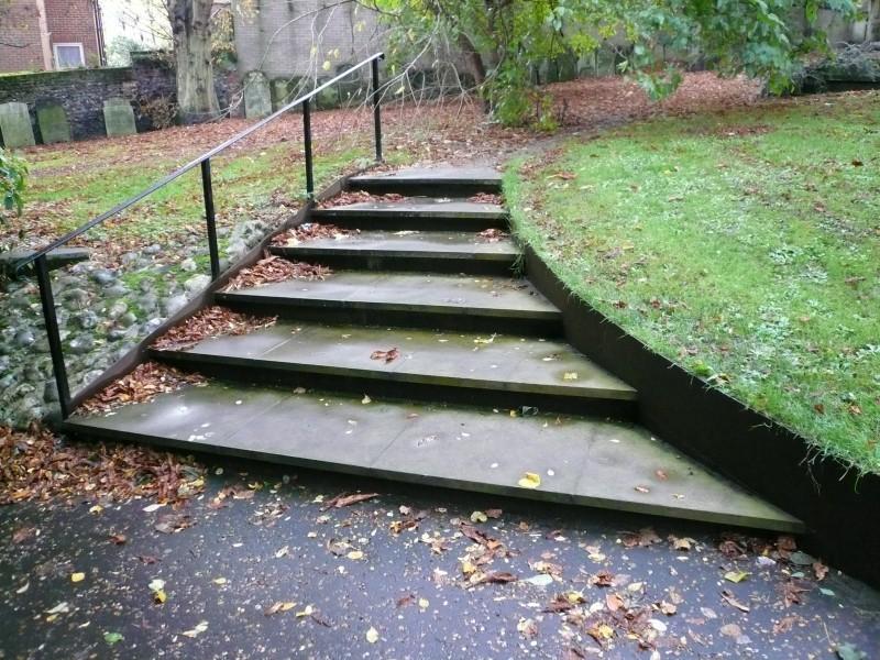 Churchyard steps